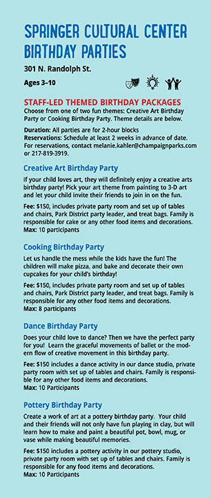 SCC Birthday parties