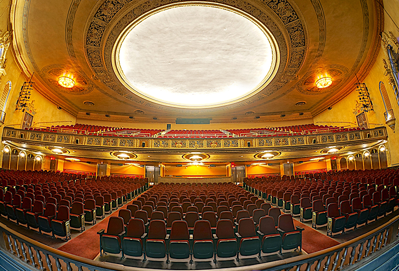 View of Virginia Theatre audience from the stage. Click image for Virginia Theatre information