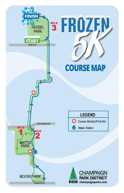 Frozen 5K Course Map