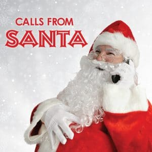 Calls From Santa Image: Santa laughing on the phone.