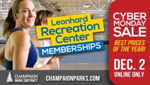 Leonhard Recreation Center Cyber Monday Sale Dec 2