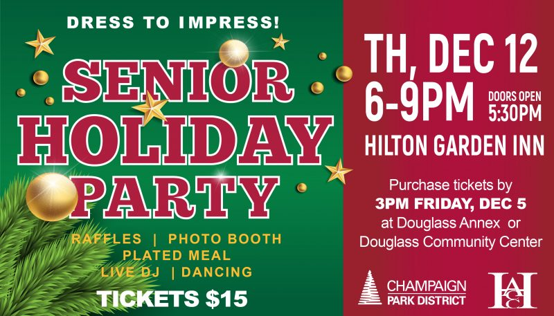 Senior Holiday Party: Dress to Impress! December 12 6pm to 9pm