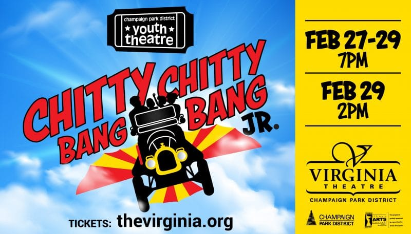 Chitty Chitty Bang Bang Jr. Feb 27-29 7pm; Feb 29 2p. Tickets: thevirginia.org