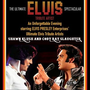 one old Elvis impersonator facing a young Elvis impersonator: The Ultimate Elvis Spectacular.