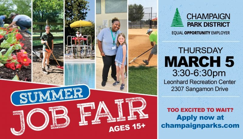 Summer Job Fair: Ages 15+ Thursday, March 5 3:30p-6:30p Leonhard Recreation Center