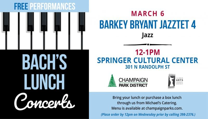 Bach's Lunch Concert Barkey Bryant Jazztet 4 March 6 12p Springer Cultural Center