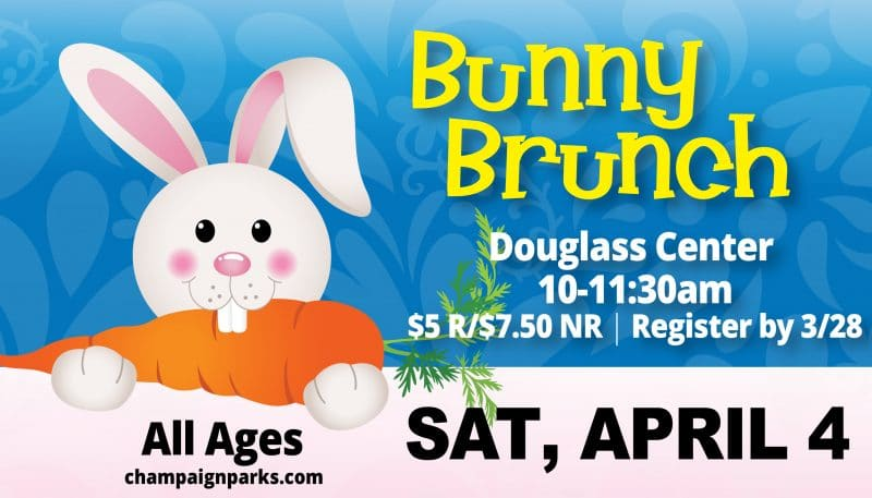 Bunny Brunch. Douglass Center. April 4. REgister by 3/28/2020