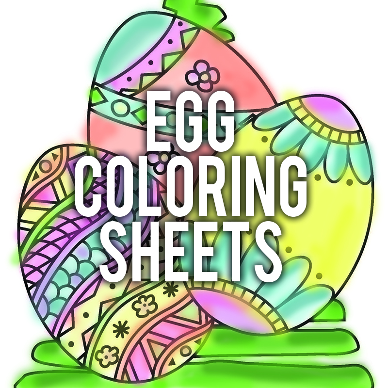 Egg Coloring Sheets