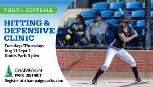 Youth Softball Hitting & Defensive Clinic. Tuesdays/Thursdays Aug 11 - Sept 3 Dodds Park 3-plex