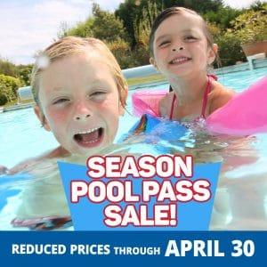 Season Pool Pass Sale! Reduced Prices through April 30